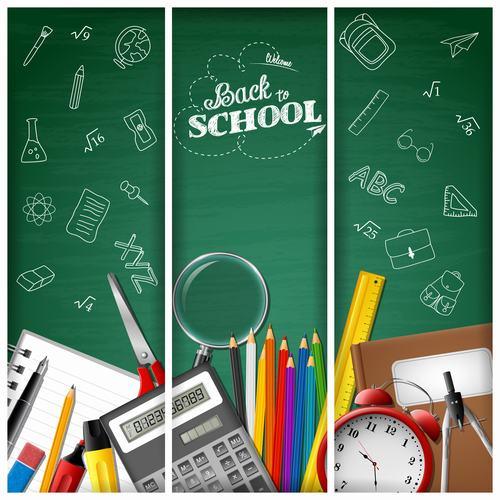 Back to school background banner vector