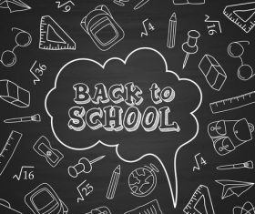 Back to school blackboard newspaper vector