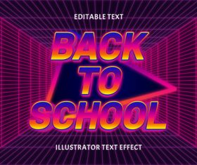 Back to school editable text effect vector