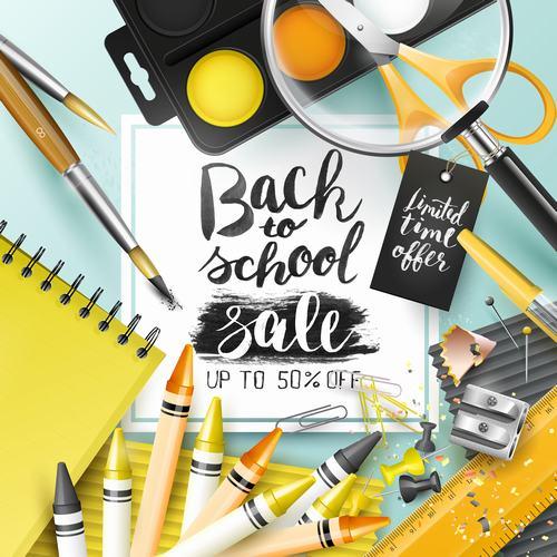 Back to school new sale vector