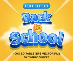 Back to school text effect vector