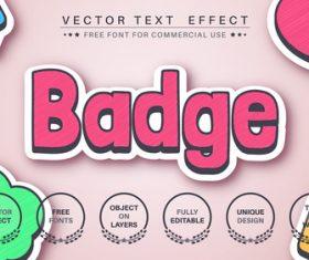 Badge vector text effect