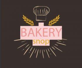 Bakery shop logo vector