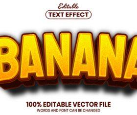Banana text font style vector