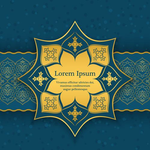 Banner and backgrounds oriental style vector