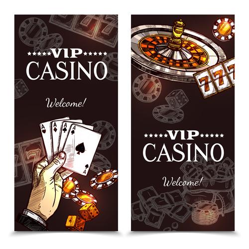 Banner casino vector