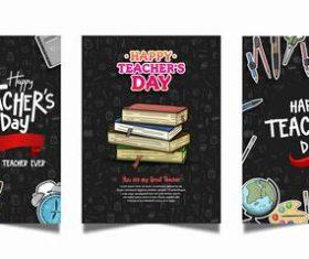Banner happy teachers day vector