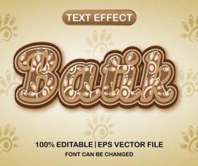 Batik text effect vector