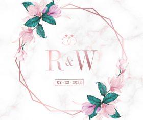 Beautiful wedding invitation card design vector
