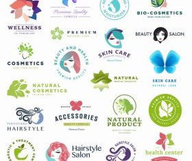 Beauty and hairdressing logo vector