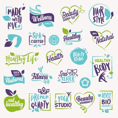 Beauty badges vector