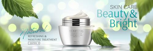 Beauty brightskin care advertising vector