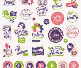 Beauty label vector