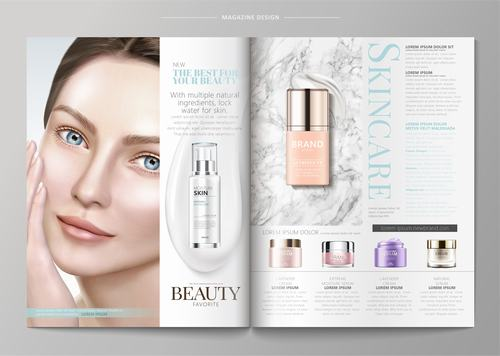 Beauty magazine vector
