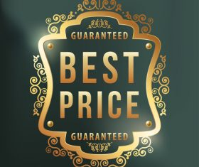 Best price label design vector