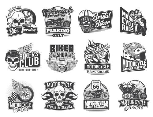 Bikers club logos in vector