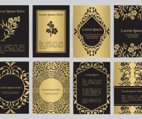 Black and gold oriental style vector