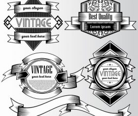 Black and white commercial label vector