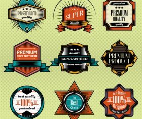 Black blue commercial label vector