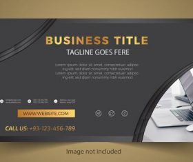 Black business card design vector