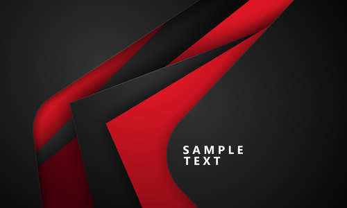 Black plus red background vector
