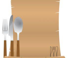Blank menu design vector