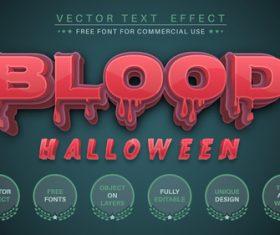 Blood vector text effect