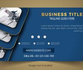 Blue business card design vector
