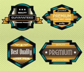 Blue yellow commercial label vector