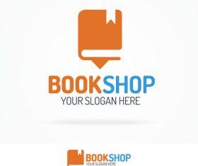 Book shop logo vector