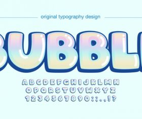 Bubble style text vector