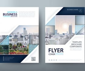 Building group background company brochure vector