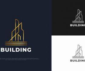 Building real estate logo vector