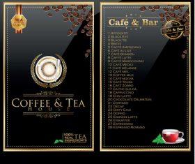 Cafe and bar menu vector