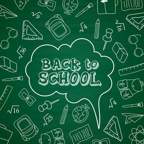 Cartoon back to school background vector