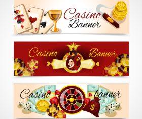 Casino banner vector