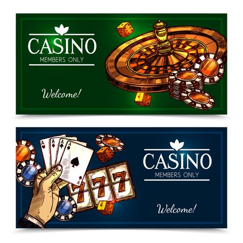 Casino members only vector