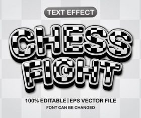 Chess fight text effect vector