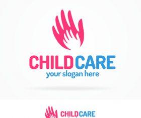 Child care logo vector