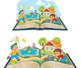 Children comic book vector