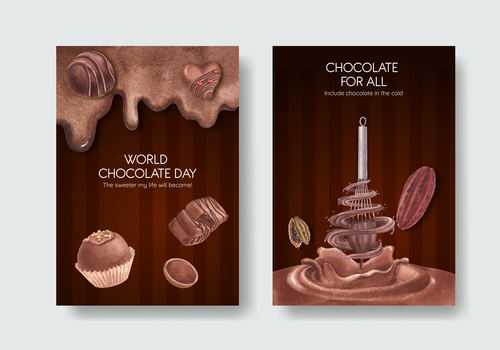 Chocolate for all poster vector
