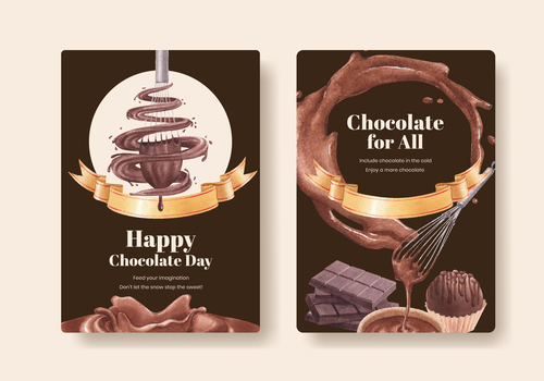 Chocolate poster vector