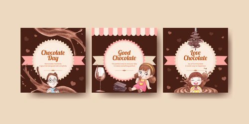 Chocolate promotional label vector