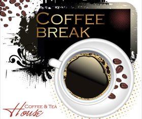 Coffee break flyer vector