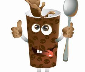 Coffee cup cartoon vector