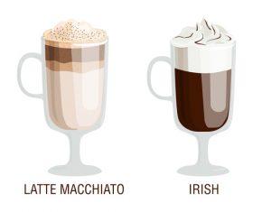 Coffee drink assortment vector