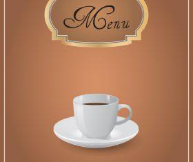 Coffee shop menu design vector