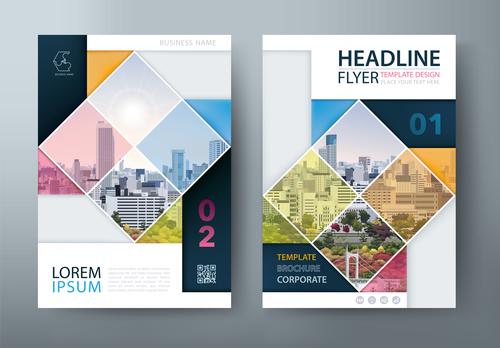 Color company brochure vector