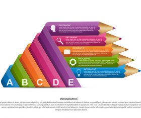 Color fold infographic vector