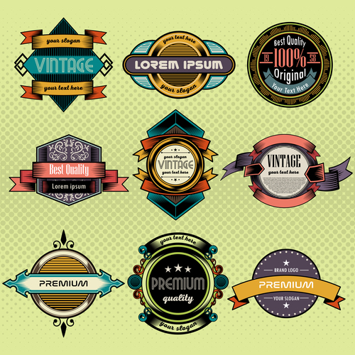 Colorful collection sale labels vector